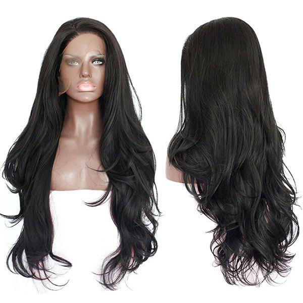 Latest Side Parting Layered Long Wavy Lace Front Synthetic Wig