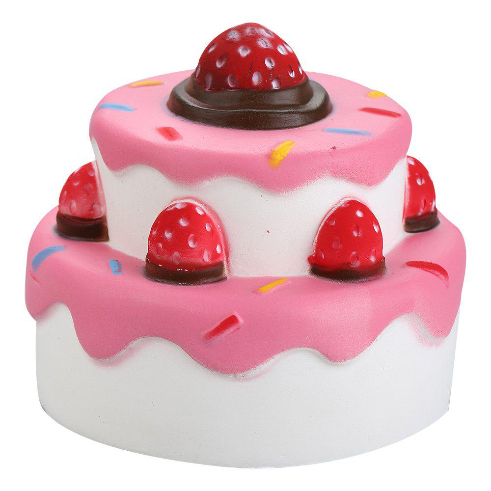 Shops Squishy Toy PU Slow Rising Simulation Strawberry Cake