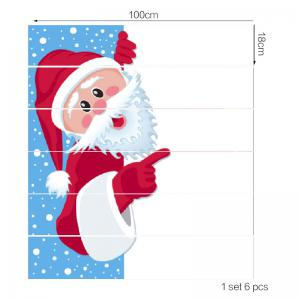 Beard Santa Claus Pattern Stair Stickers -