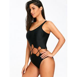 Control Cutout U Neck One Piece Swimwear -