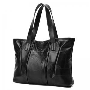 Quilted Stitching PU Leather Shoulder Bag -