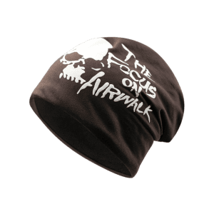 Outdoor Skull and Letter Pattern Two Layers Lightweight Beanie -