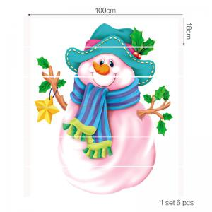 Pink Snowman Patterned Stair Stickers -