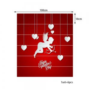 Valentine Theme Cupid Print Removable Stair Stickers -