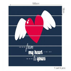 Valentine's Day Flying Heart Print Home Ornaments Stair Stickers -