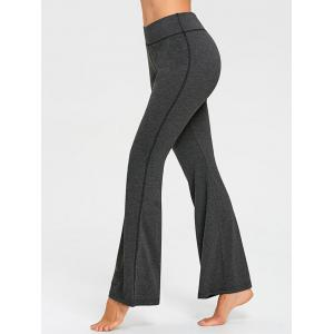 Contrast Stitches Jersey Flare Pants -