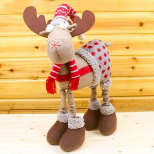 Christmas Wear Overalls Elk Shape Cloth Doll -