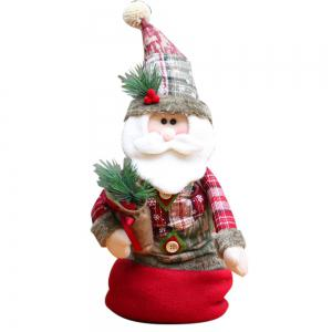 Santa Claus Snowman Stretchable Cloth Doll Ornament Christmas -