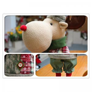 Santa Claus Snowman Reindeer Stretchable Doll Christmas Decoration -