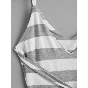 Bowknot Stripes Slip Mini Dress -