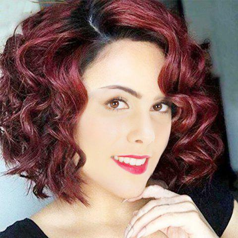 New Short Side Parting Wavy Ombre Synthetic Wig