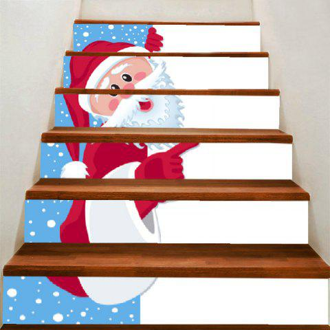 Outfit Christmas Beard Santa Claus Pattern Stair Stickers