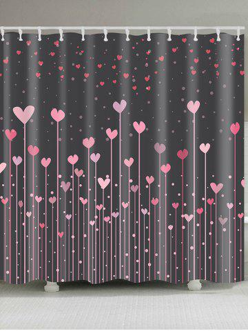 Valentine s Day Hearts Printed Shower Curtain