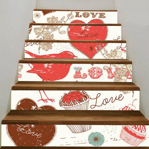 New Love Heart and Dessert Pattern Stair Decals