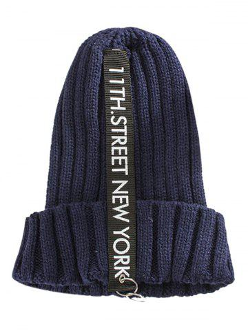 Best Outdoor Letter and Rings Embellished Knitted Beanie