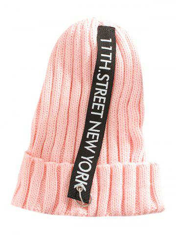 Outfit Outdoor Letter and Rings Embellished Knitted Beanie