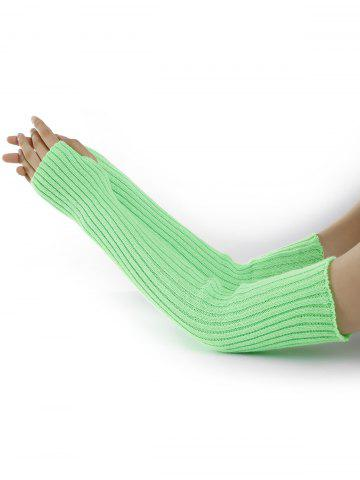 Buy Vertical Striped Pattern Crochet Knitted Arm Warmers