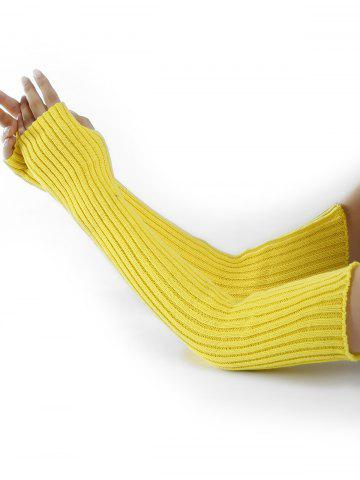 Fashion Vertical Striped Pattern Crochet Knitted Arm Warmers