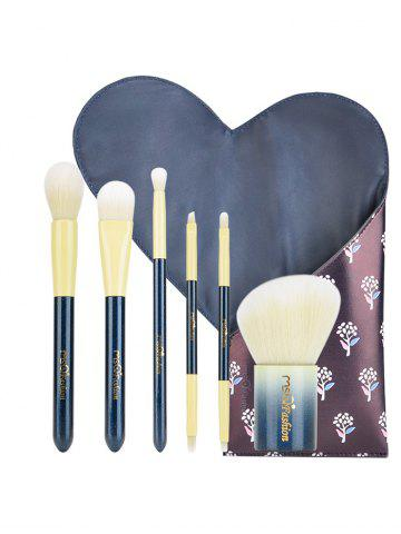 Outfits 6Pcs Portable Beauty Tools Makeup Brushes Set With Bag