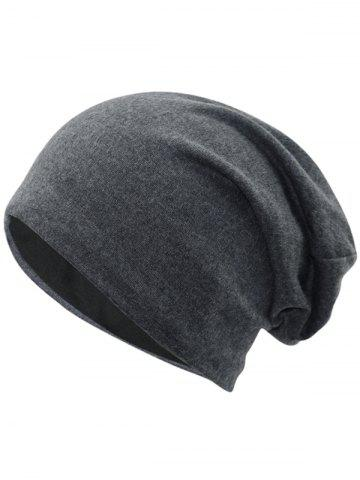 Trendy Outdoor Simple Two Layers Thicken Slouchy Beanie
