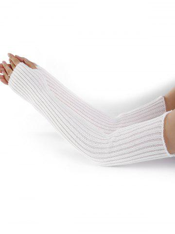 Sale Vertical Striped Pattern Crochet Knitted Arm Warmers
