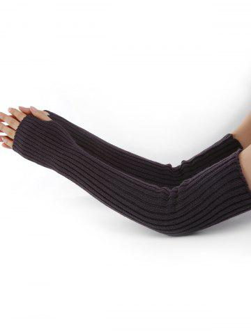 Discount Vertical Striped Pattern Crochet Knitted Arm Warmers