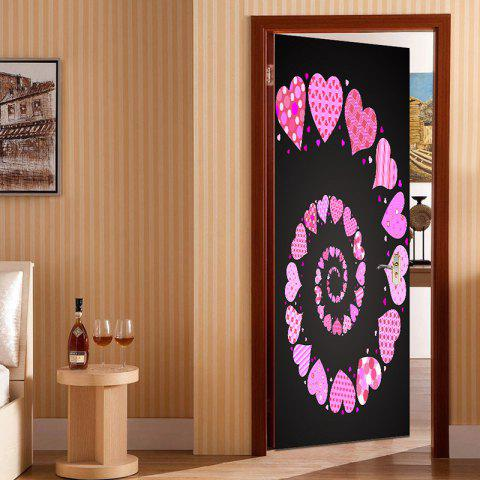 Valentin Coeurs Vortex Pattern Porte Art Stickers