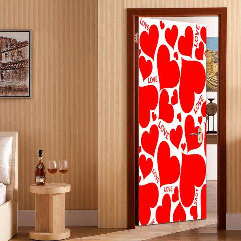 Hot Love Heart Shape Embellished Door Art Stickers