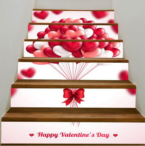 Outfits Romantic Heart Balloon Pattern Decorative Stair Stickers