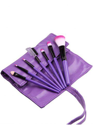 Trendy 7Pcs Portable Beauty Tools Makeup Brushes Set With Bag