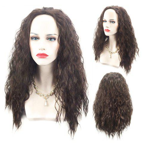 Affordable Long Fluffy Water Wave Marine Romance Moana Synthetic Cosplay Wig