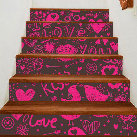 Outfits Love Theme Print Home Ornament Decorative Stair Stickers