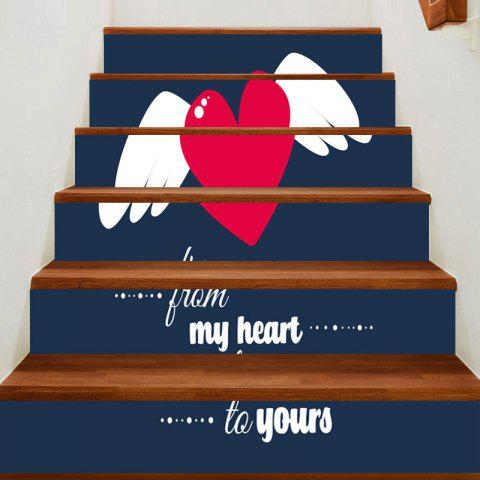 Chic Valentine's Day Flying Heart Print Home Ornaments Stair Stickers