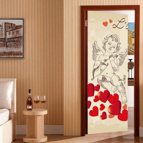 Autocollants de couverture de porte Valentin Day Pattern Cupid