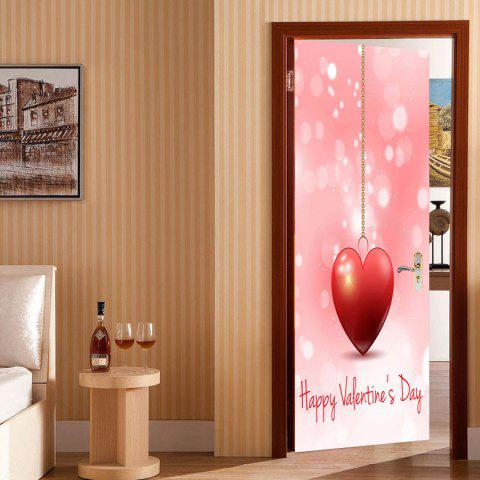 Outfit Heart Pattern Valentines Day Door Cover Stickers