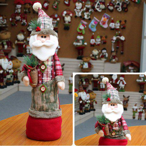 Fashion Santa Claus Snowman Stretchable Cloth Doll Ornament Christmas