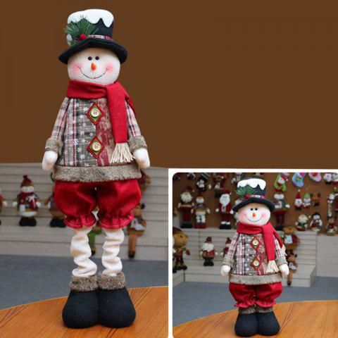 Chic Santa Claus Snowman Reindeer Stretchable Doll Christmas Decoration