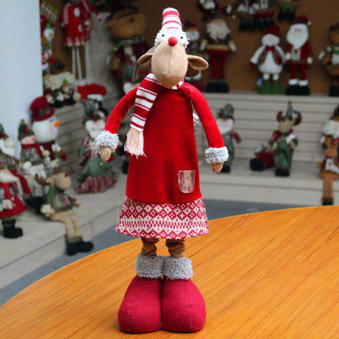 Shop Christmas Dress-up Elk Shape Stretchable Cloth Doll