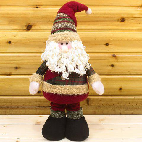 Winter Dress-up Santa Claus or Snowman Stretchable Cloth Doll