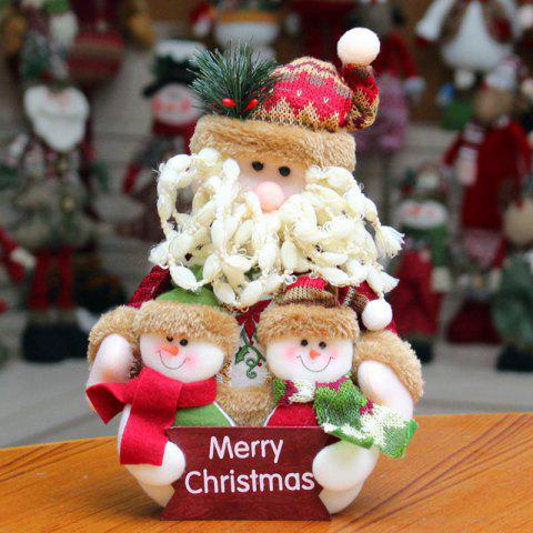 Sale Santa Claus Snowman Dress-up Cloth Doll Ornament Christmas