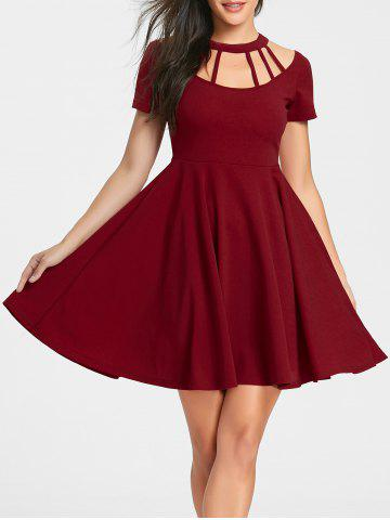 Outfits Cut Out Mini Flare Dress