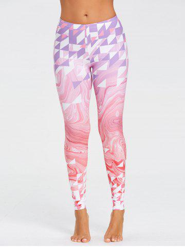 Store Fresh Geometric Pattern Yoga Tights