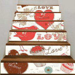 Love Heart and Dessert Pattern Stair Decals -