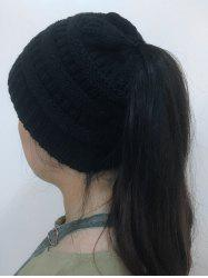 Open Top Mixcolour Knitted Hat -