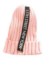 Outdoor Letter and Rings Embellished Knitted Beanie -