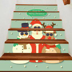 Santa Snowman Elk Patterned Stair Stickers -
