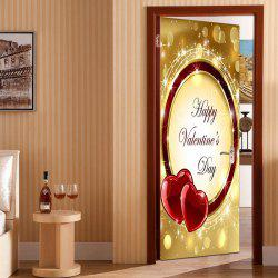 Valentine's Day Heart Ring Pattern Door Art Stickers -