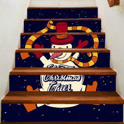 Dancing Snowman Patterned Stair Stickers -