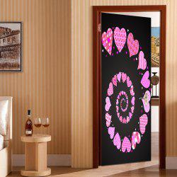 Valentin Coeurs Vortex Pattern Porte Art Stickers -