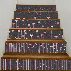 Hearts Hanging Pattern Removable Stair Stickers -